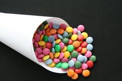 No pare los caramelos en cucurucho Fotos de archivo libres de regalías