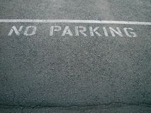 No parking. On pavement sign royalty free stock images