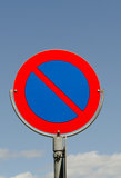 No parking. Road sign close up Royalty Free Stock Image