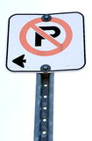 No Parking. An isolated no parking sign stock photography