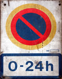 No parking. Urban forbidden signal Royalty Free Stock Photography
