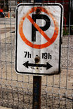 No parking Stock Image