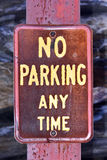 No Parking Any Time Royalty Free Stock Image
