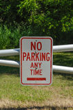 No Parking Any Time Stock Photography