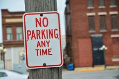 No Parking Any Time Sign. Royalty Free Stock Photos