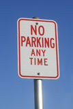 No Parking Any Time Sign Stock Images