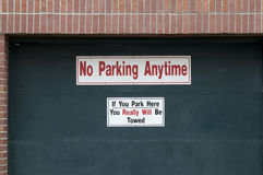 No Parking Anytime Sign Stock Images