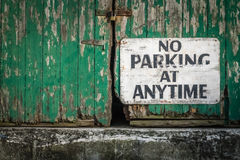 No parking at anytime Stock Image