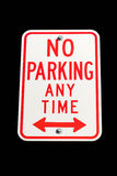 No parking anytime sign isolated Royalty Free Stock Photo