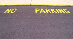 No parking area painted on pavement Stock Photography