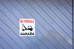 No parking area sign Royalty Free Stock Photography