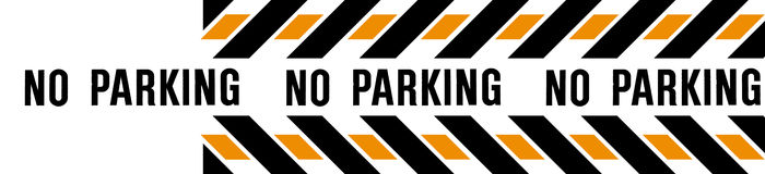 NO PARKING BANNER stock photos
