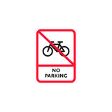 No parking bicycle roadsign isolated Stock Photo