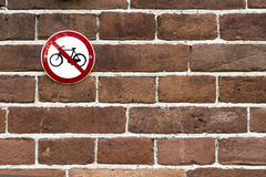 No parking bicycles Royalty Free Stock Photo