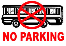 No parking bus Royalty Free Stock Photography