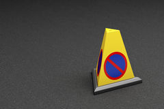 No parking cone Royalty Free Stock Photo
