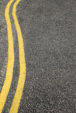 No parking double yellow lines. Royalty Free Stock Images
