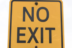 No parking exit sign Royalty Free Stock Photo