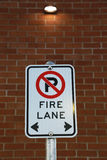 No parking fire lane Stock Photo