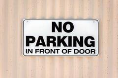 No parking in front of door sign Stock Photos