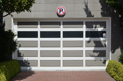 No parking in front of garage Stock Images