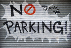 No parking graffiti Royalty Free Stock Photo