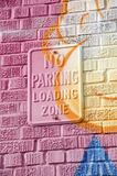 No Parking Graffiti Stock Photography