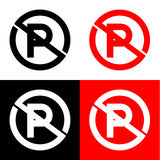 No parking icon great for any use. Vector EPS10. Royalty Free Stock Image