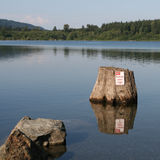 No Parking in Lake. No Parking Any Time sign in Rattlesnake Lake, Washington Royalty Free Stock Images