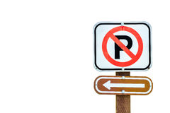 No parking on the left Royalty Free Stock Photo