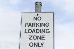 No parking loading zone sign Stock Photos