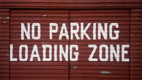 No parking loading zone sign Royalty Free Stock Photo
