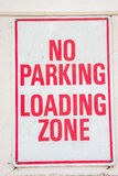 No Parking Loading Zone Sign Royalty Free Stock Image