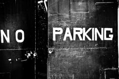 No parking no kerning Royalty Free Stock Photos