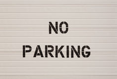 No Parking Notice Royalty Free Stock Photography