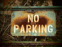 No Parking! Please ). Sign prohibiting parking at Nafplio, Greece Stock Images