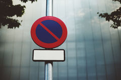 `No Parking` Road Sign Stock Photos