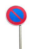 No parking road sign on white background Stock Photography