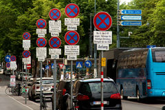 No parking - road signs on the streets of vienna Stock Images