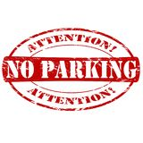 No parking. Rubber stamp with text no parking inside,  illustration Royalty Free Stock Photo