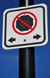 No parking sign. On blue Royalty Free Stock Image