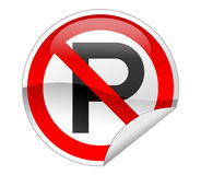 No Parking Sign. On white background vector illustration