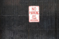 No Parking Sign. No Parking Any Time sign Royalty Free Stock Photography