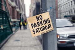 No parking sign. Royalty Free Stock Images