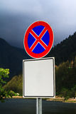 No Parking Sign with Blank Board Royalty Free Stock Photography