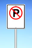No parking sign blank for text Stock Images