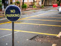 Free No Parking Sign Board Royalty Free Stock Image - 120177816