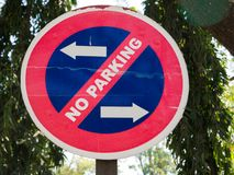 No parking sign in the city. Of Mysore, India Royalty Free Stock Images