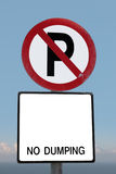 No parking sign on a cliff edge with clipping path Royalty Free Stock Photography