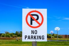 No parking sign color Stock Image